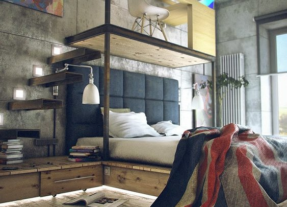Men's Gear: INDUSTRIAL BACHELOR LOFT BY MAXIM ZHUKOV | Awesome Tech Gadgets Men Want | Coolest Gift Ideas For Guys