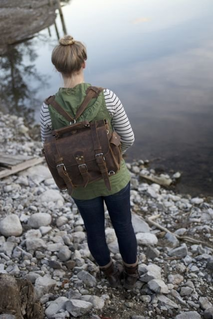 Can A Lady Wear A Rugged Leather Bag? Absolutely!