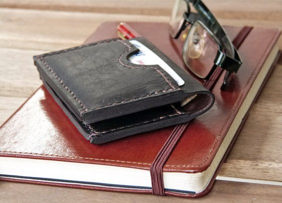 3 Pocket Men's Leather Wallet Horizontal by SivaniAccessories
