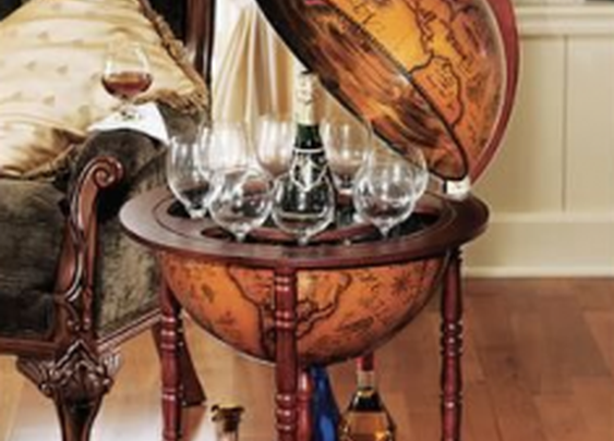 Hidden Bar in Replica Globe | StashVault