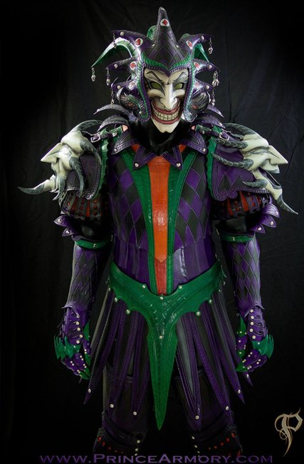 Ultra Impressive Joker Themed Medieval Leather Armor | Geekologie