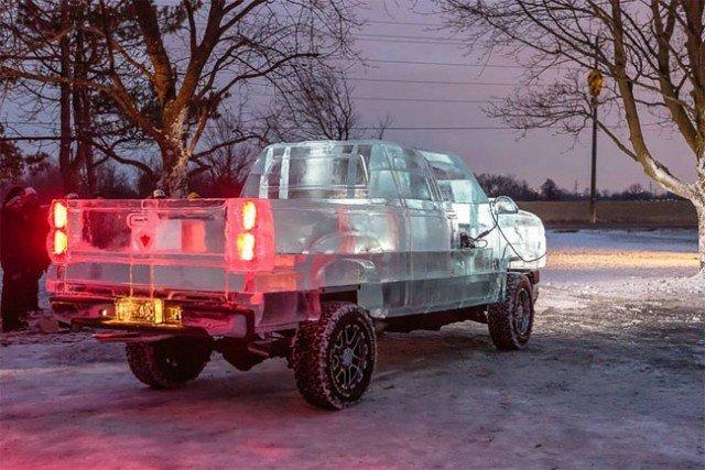 Driveable Truck made of Ice – Fubiz™