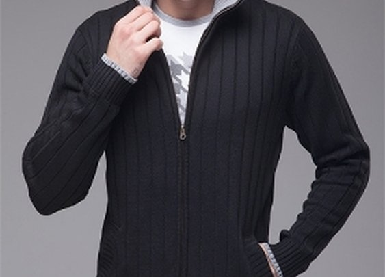 Men's Ribbed Cardigan