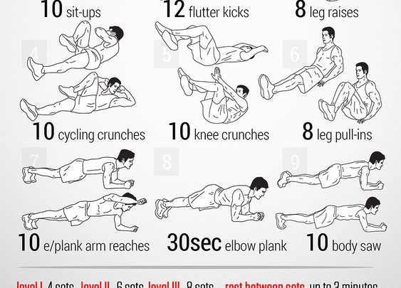 Abs of Steel Workout -- neilarey.com