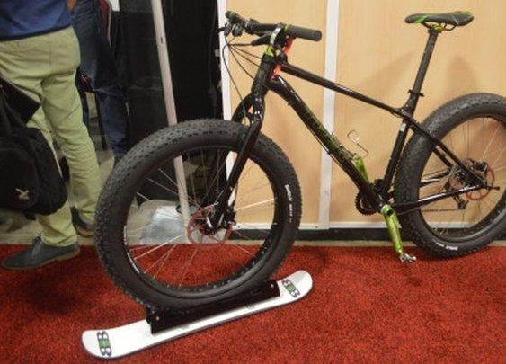 BikeBoards take your bike skiing