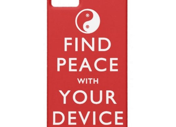 Find Peace with Your Device iPhone 5/5S Case