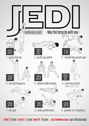 Exercise Like a Jedi - Free Visual Workouts