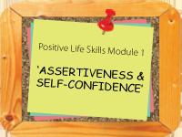 Assertiveness & Self Improvement: online self development courses 2014