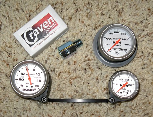 Mini Cooper S (R53): Installing Boost and Oil Pressure Gauges