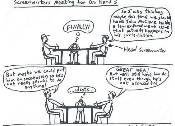 Die Hard 3 Screenwriters Meeting | Take The Patience