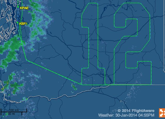 Boeing draws giant, invisible '12' in the sky for Seahawks fans | The Verge