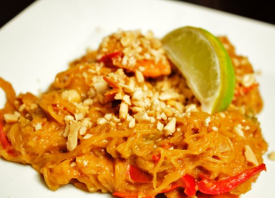 shrimp spaghetti squash pad thai - rotio/food
