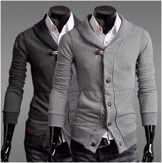 Men's Slim Fit Shawl Collar Cardigan