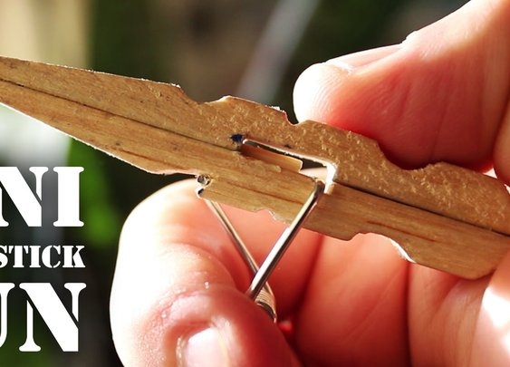 Mini Matchstick Gun - The Clothespin Pocket Pistol - YouTube