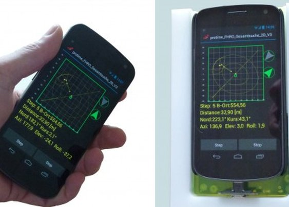Galileo-LawinenFon turns a smartphone into an avalanche transceiver