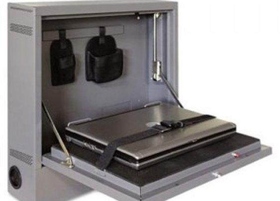 Wall-Mount Laptop Safe/Security Cabinet   StashVault