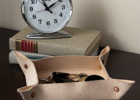 DIY Leather Valet Tray
