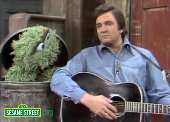 Johnny Cash on Sesame Street | Mental Floss