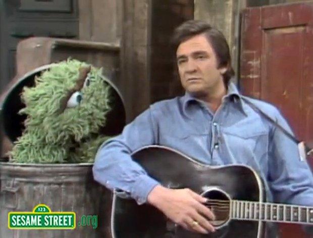 Johnny Cash on Sesame Street | Mental Floss
