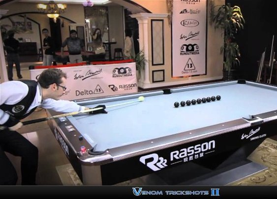 "Breathtaking Pool Trick Shots by Florian ""Venom"" Kohler"