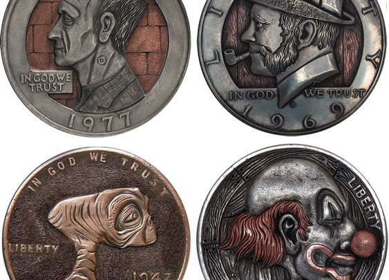 Remarkable Hobo Nickels Carved from Clad Coins by Paolo Curcio   Colossal