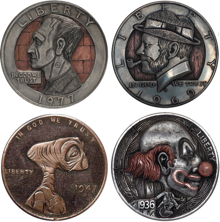 Remarkable Hobo Nickels Carved from Clad Coins by Paolo Curcio | Colossal