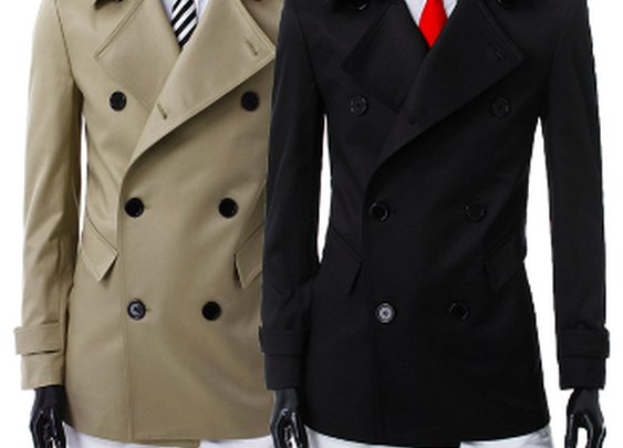 Men's Double Breast Mid Length Trench Coat
