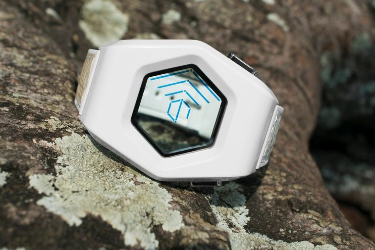 Tokyoflash Kisai Spider Acetate White LCD Watch