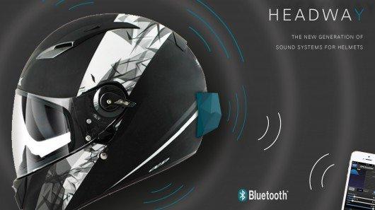 Headway turns an entire helmet into a speaker