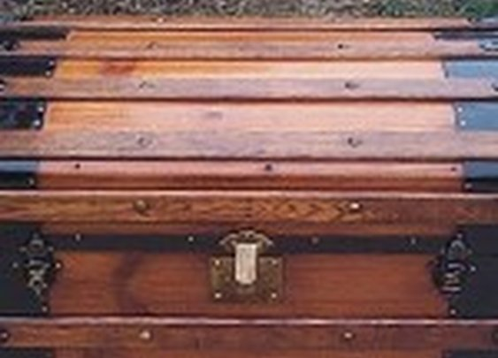 Antique Trunk with Hidden Storage in Lid | StashVault