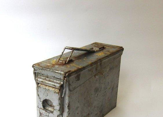 Vintage Australian army military ammunitions box by evaelena