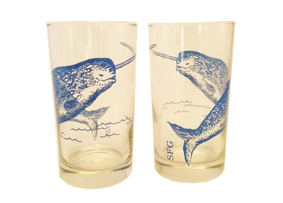 Narwhal Bar Glasses (Set of 2)