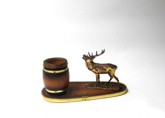 Vintage mid century kitsch stag figurine toothpick by evaelena