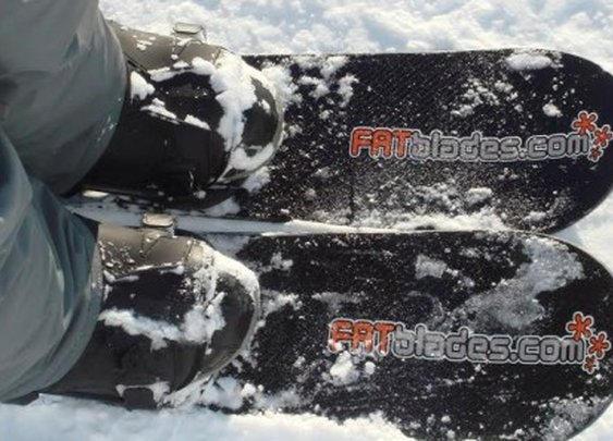 FATBlades bring comfort of snowboard boots to custom-built skis