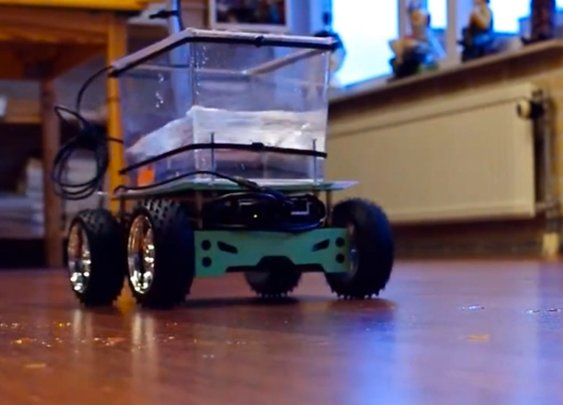 'Fish on Wheels' lets a goldfish drive a go-kart
