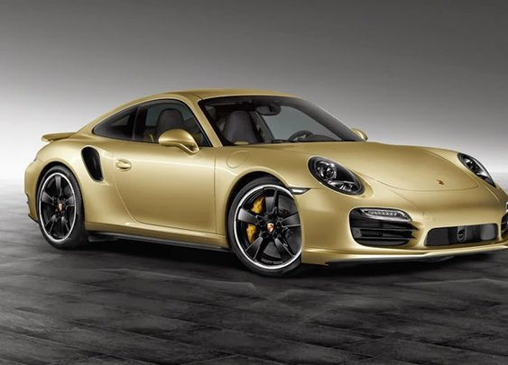 Porsche Lime Gold Metallic 911 Turbo