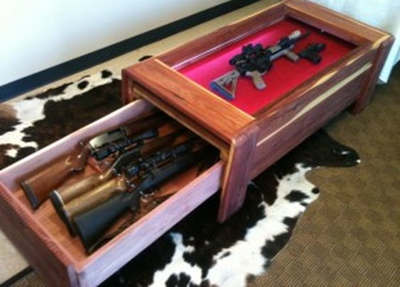 Gun Concealment/Display Coffee Table | StashVault