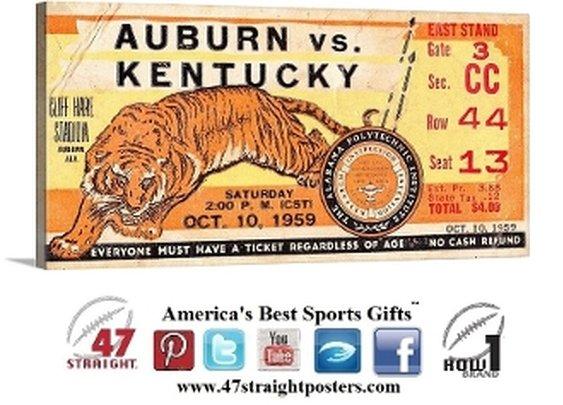 Auburn Tigers art, Auburn Tigers Man Cave Gifts