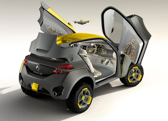 Car with Built-in Quadcopter