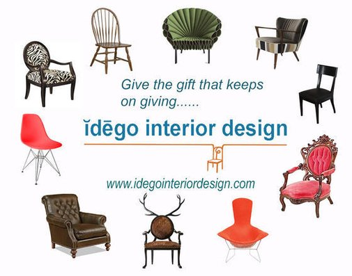 YOU FORGOT TO GET A GIFT!  Give the gift of design!   Idego Interior Design