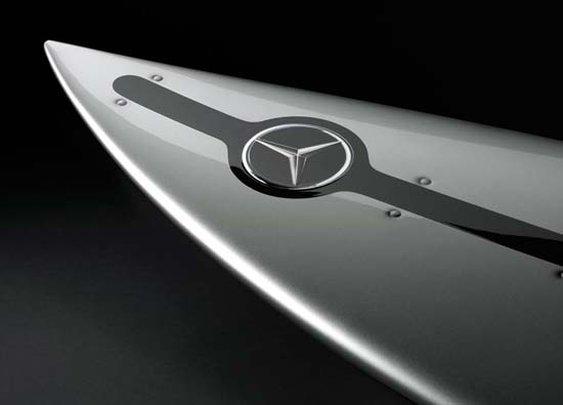 Mercedes-Benz shapes surfboards for Garrett McNamara