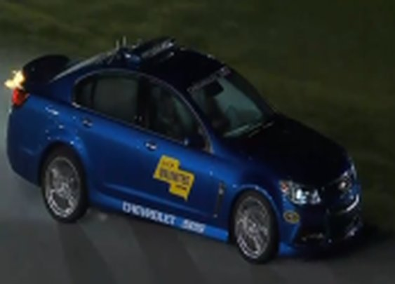 Pace Car Catches Fire During Sprint Unlimited