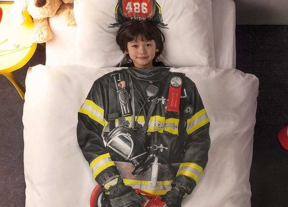 Firefighter Duvet Cover Set From Snurk
