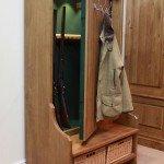 Concealed Gun Cabinet Bench/Coat Rack | StashVault
