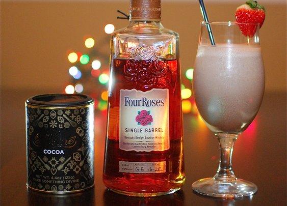 Boozy Milkshake Recipe – Divine Chocolate and Four Roses Bourbon Shake