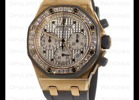 Audemars Piguet 18k Royal Oak Offshore Diamond Watch – Opulent Jewelers