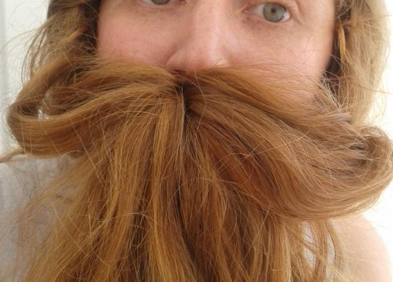 15 Sexy Ladybeards: Beards from Girls' Hair Pulled Over. Hey, Fellas - CollegeHumor Post