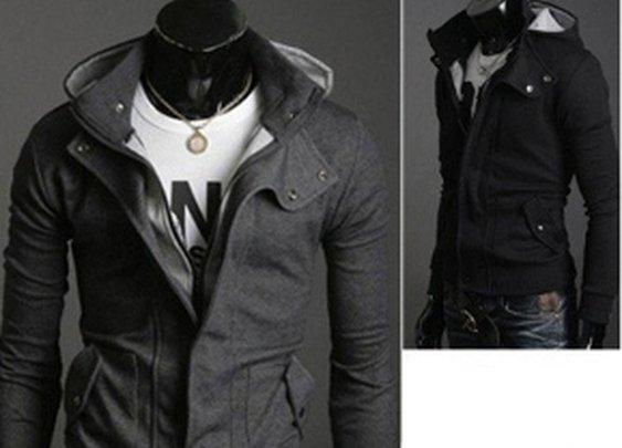 Men's Hooded Zipper Cotton Jacket