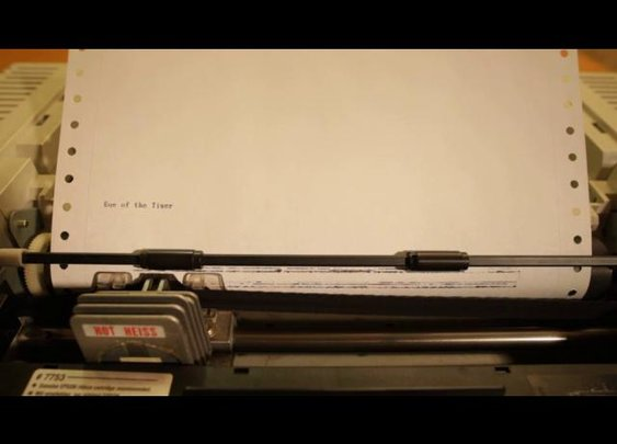 """Eye of the tiger"" on dot matrix printer -- Vimeo.com"