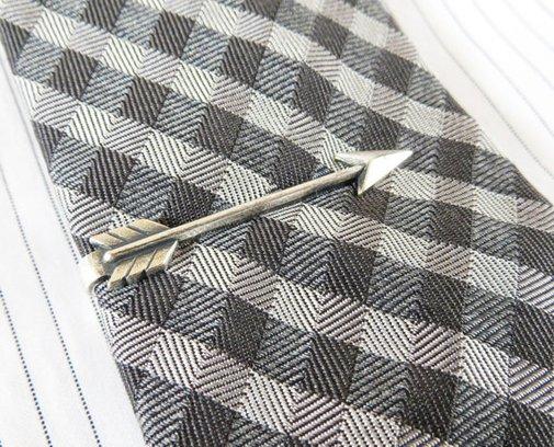 Arrow Tie Bar Sterling Silver & Antiqued Brass by BellaMantra